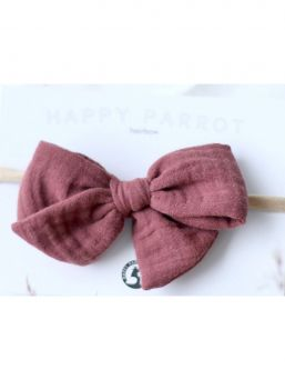 Bow headband Muslin collection (rosewood) | HAPPYPARROT