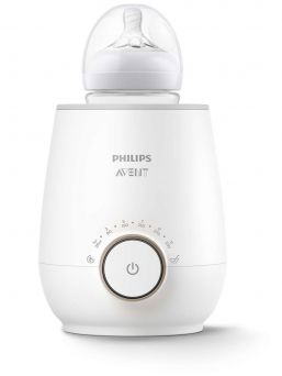 AVENT fastest electric bottle warmer. For days when you're rushed off your feet, this Philips Avent baby bottle warmer warms your milk quickly and evenly in just 3 minutes.