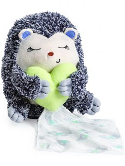 Soothe the baby to sleep, a soft Hedgehog that mimics the parents 'steady heartbeat and gentle breathing. The sounds are already familiar from the uterus.