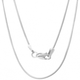 Silver plated necklace  Snake 70cm