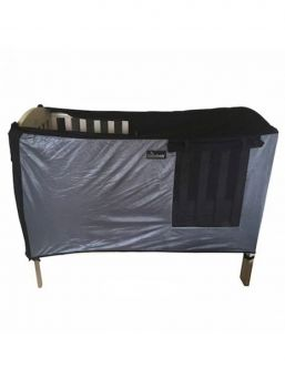 SnoozeShade cot blackout curtain - help for rooms that are difficult to darken.