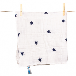 SNUTTEN Burp cloth 3+3pcs (navy blue stars)