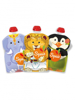 Squiz reusable food pouches 3-pack