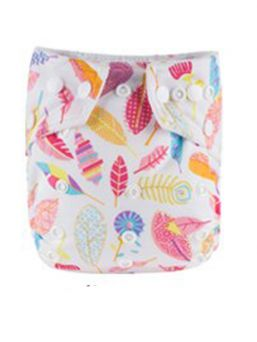BABYLAND cloth diaper + microterry insert (feather)