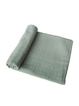 Mushie multi-purpose, large-sized Muslin Blanket is perfect for babycare, nursing cover and even changing mat.