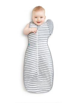 Swaddle Up 50/50 (grey stripes)