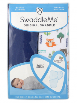 SwaddleMe Wrap 0-3mth 2-pack (into the woods)