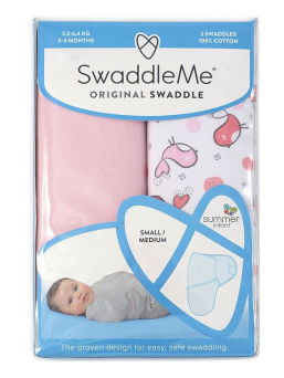 SwaddleMe Wrap 0-3mth 2-pack (tweet tweet)