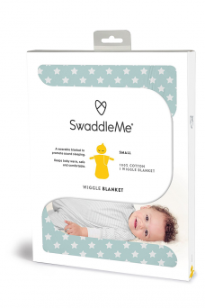 SwaddleMe Wiggle Blanket 8-24mth (teal/white star)