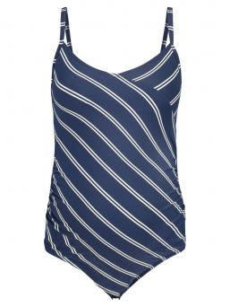 This maternity swimsuit Noreen by Noppies is designed to lovingly be worn during your nine-month adventure. The swimsuit comes in a diagonal stripe pattern and has a rounded V-neck.