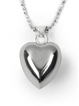 BOLA - pregnancy chime heart + silver necklace 60cm