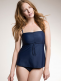 Maternity and nursing swimsuit Fast Food Tankini (ink blue) | BOOB