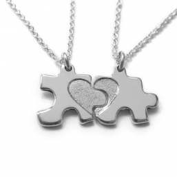 Jigsaw puzzle neckless to mother and child - TALES FROM THE EARTH