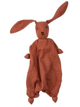 Muslin Tino Bonding Bunny (berry pink)