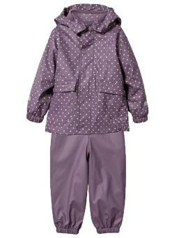Rubber rain set with fleece (plum) | T2H