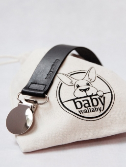 Pacifierholder (black) | BABY WALLABY