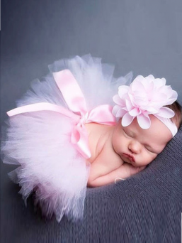 Tutu + headband (light pink)