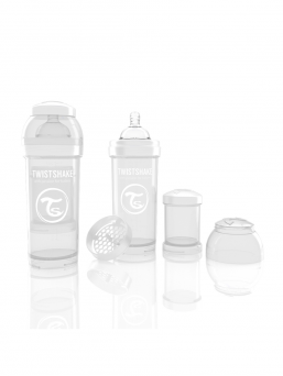 TwistShake Baby Bottle 260ml (white)