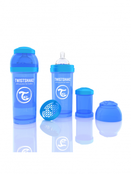 TwistShake Baby Bottle 260ml (blue)