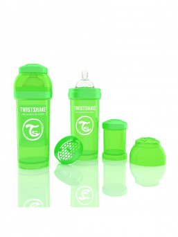 TwistShake Baby Bottle 260ml (green)