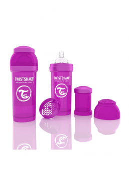 TwistShake Baby Bottle 260ml (purple)
