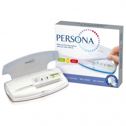 PERSONA is easy to us and has no side effects. Once your period has started, you simply press a button on the Monitor. PERSONA then uses coloured lights to inform you when you are free to make love without contraceptives or need to do a test to find out. Just check your Monitor each morning to see which light is shining.