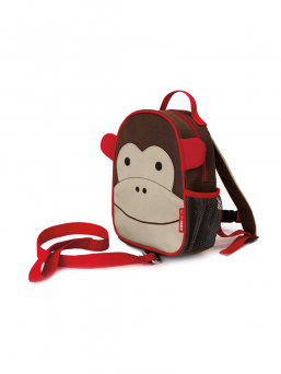 SkipHop Backpack with rein (monkey)