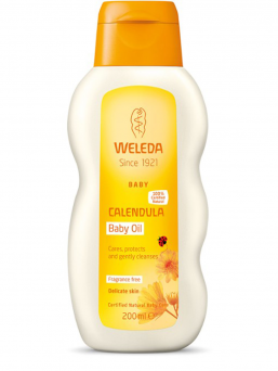 Weleda baby Oil is a luxurious baby oil that moisturizes and nourishes baby's new soft skin.