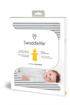 SwaddleMe Wiggle Blanket 2-7mth (grey stripe)