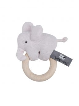 Baby's Only Wooden rattle Elephant. The rattle elephant has wonderful little lovely details, such as a tail knot and a long tip that your baby can explore and wonder.