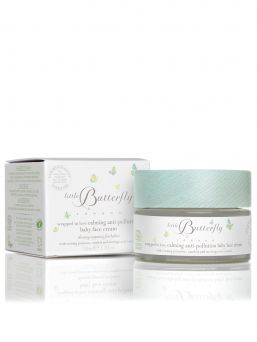 Calming anti-pollution baby face cream. Little Butterfly London -series baby face cream that protects your baby's face from frostbite and environmental pollution.
