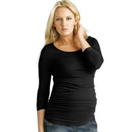 Maternity Ruched Top (black)