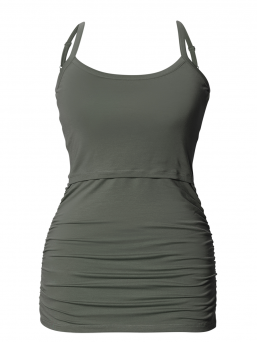 BOOB Maternity and Nursing singlet Ruched top (khaki)