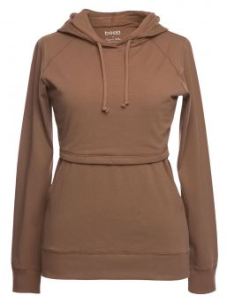 BOON DESIGN B-Warmer Hoodie nursing hoodie keeps the breasts warm both during bouncing winter frosts and on summer evenings. The shirt is made of double fabric at the breasts and the lower layer is warming fleece.