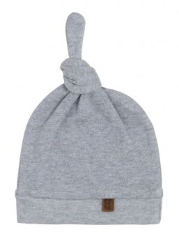 Knotted hat for baby, grey | BABY´S ONLY