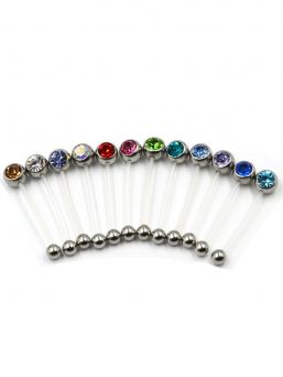 Navel jewel - monochrome (22mm)